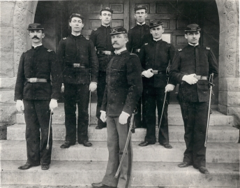 Pershing 1892 Great Photo at UNL with staff