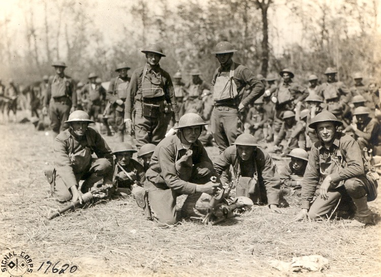 Soldiers portrait in the field