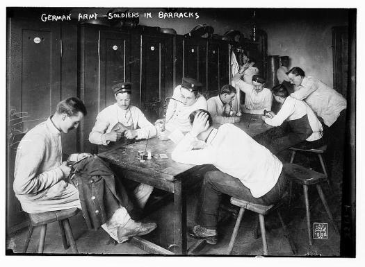 Germans in barracks