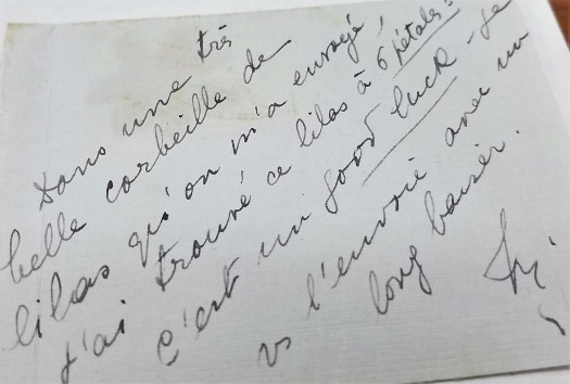 Micheline letter to Pershing