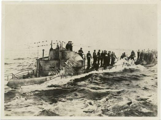 Navy U-58_captured_1917