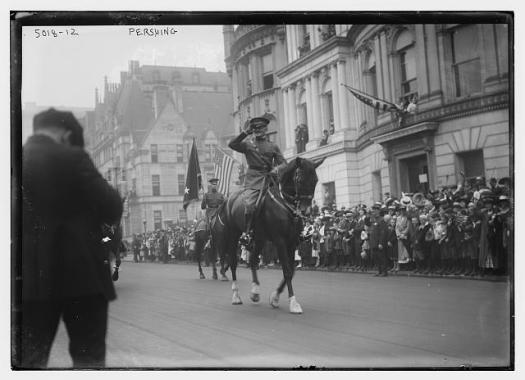 pershing nyc 1919 septemebr loc