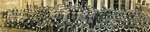 Portraits of War Spencer, Massachusetts WWI Veterans Return Home – 1919 – Panoramic Photo sm