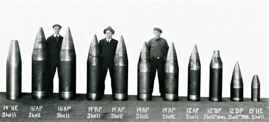 US artillery shells