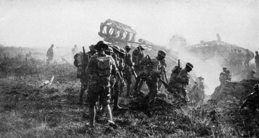 Doughboys collier_s_1921_world_war_-_american_soldiers_on_the_way_to_hindenburg_line